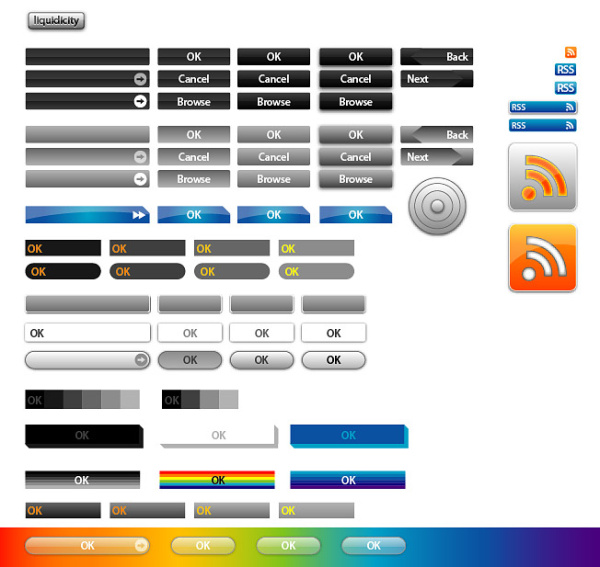 Web Design Button vector case material_Download free vector,3d ...
