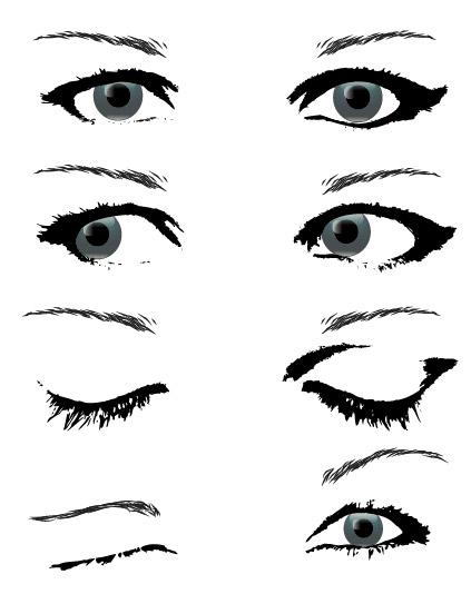 People eye Vector material package_Download free vector,3d