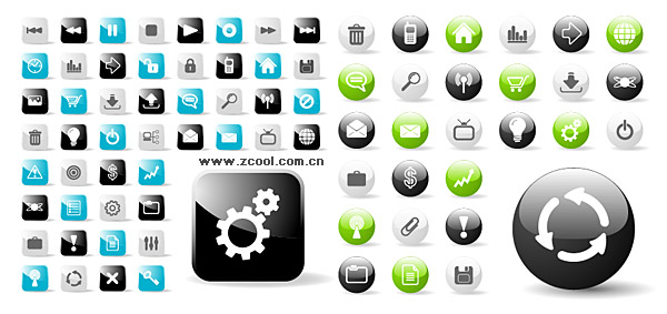 Web20 circular and square icons vector icons web design preview map containing jpg sciox Gallery