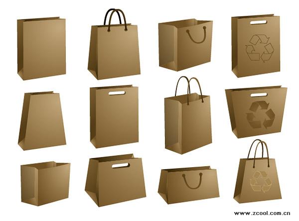 Vector material blank kraft paper bag_Download free vector