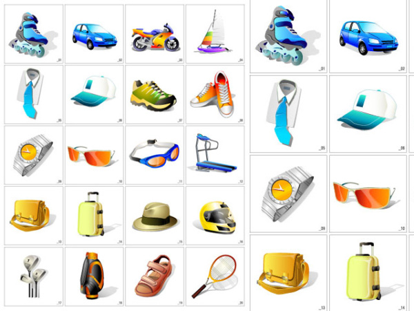 South Korean-style Sport Vector Icons_Download free vector