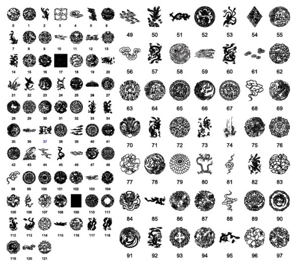 chinese patterns free vectors.