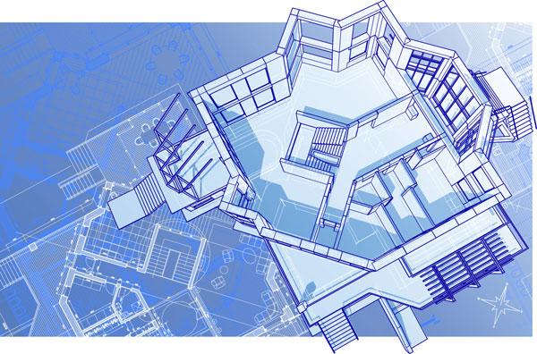 Indoor house plan vector material Download free vector 3d model
