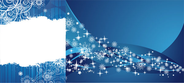 blue background vector. 2 lue snowflake ackground
