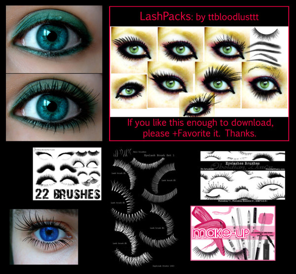 Ps Series Classic Eyelash Brushdownload Free Vector3d Modelicon