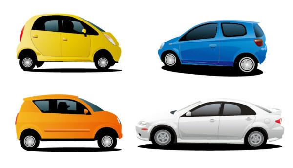 4 car vector material_Download free vector,3d model,Icon--youtoart.com