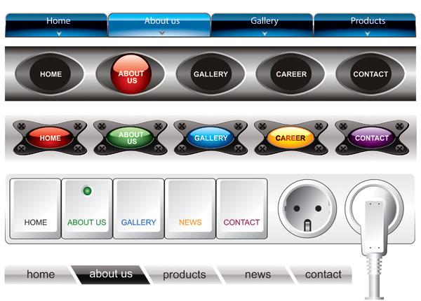 Special navigation bar vector