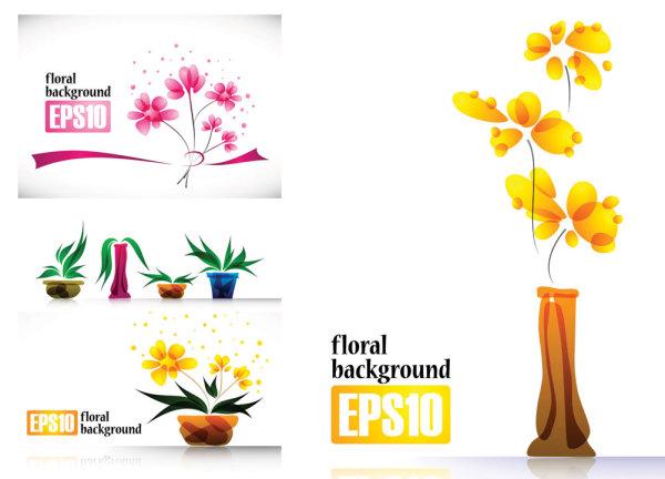 特别的植物花朵摆设矢量素材