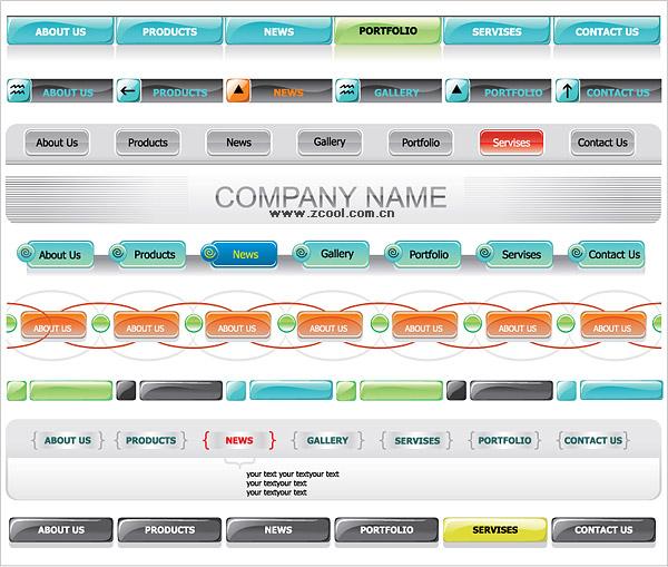 Дизайны меню для сайта - Лучшие дизайны сайтов, оригинальные и красивые дизайны сайта