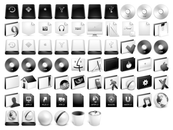 System a full set of gray apple icon png download free Free vector program mac