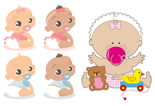 Cute baby Vector material_Download free vector,3d model,Icon--youtoart ...