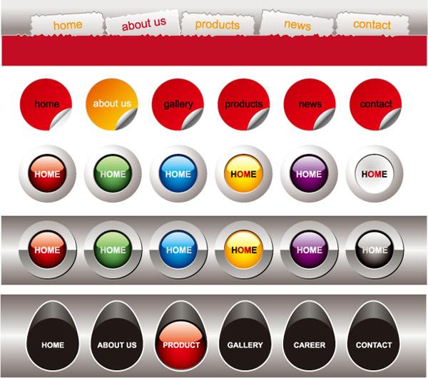 Free Software For You Free Download Sweet Home 3d: Web Design Navigation Bar Menu Vector Material_Download