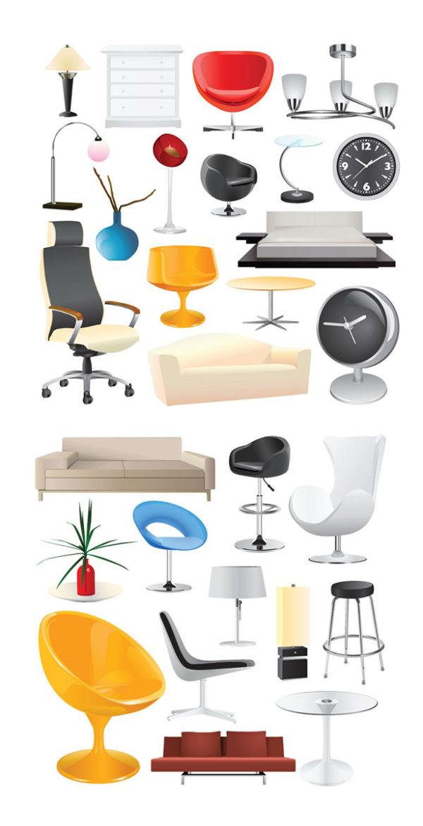 Vector home home decoration download free vector 3d model Home decoration vector free