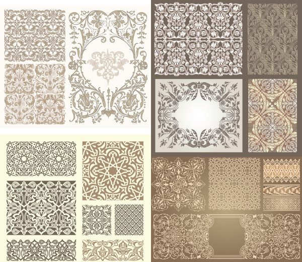 Various Types Of Pattern Vector Download Free Vector 3d