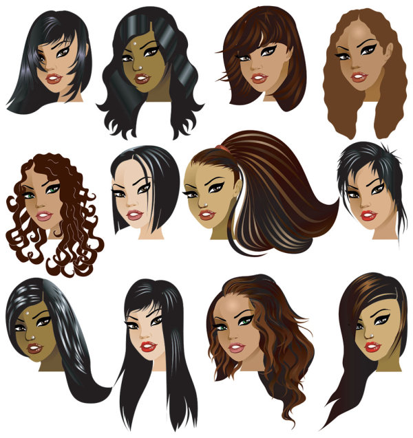 Cartoon Woman Hairstyle 01download Free Vector3d Modelicon