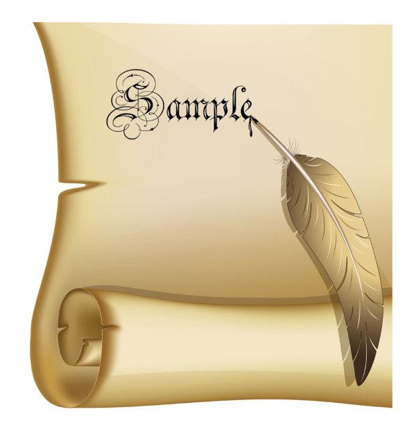 Kraft paper roll 06 - vector material_Download free vector ...   600 x 623 jpeg 39kB