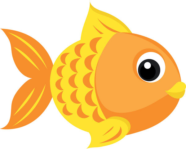 Goldfish vector 4 download free vector 3d model icon for Clip art fish