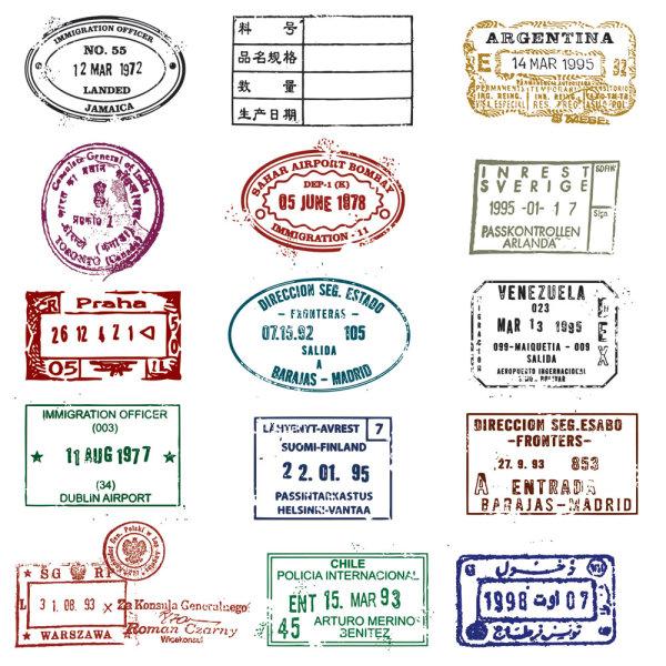 Passport Stamp Seal 03 Vector Download Free Vector 3d