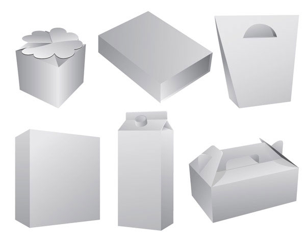 Various angles of the 3d box blank template vector materialdownload various angles of the 3d box blank template vector material maxwellsz