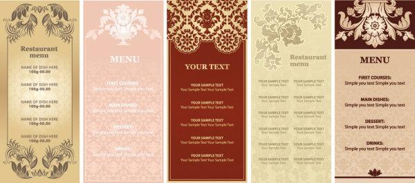 the ornate restaurant menu