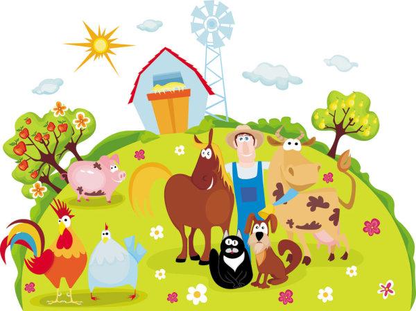 Keywords cartoons farm animals horses
