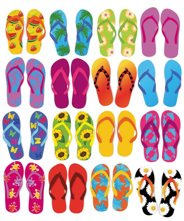 Summer sandals 03 - vector_Download free vector,3d model