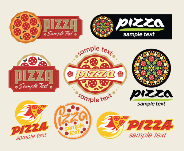 Cartoon pizza 01 - vector material_Download free vector,3d ...
