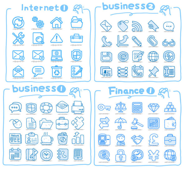 Line Art Icons Free : Line art icons vector material download free d