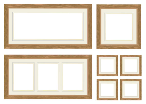 Wood Frame Vector Material Download Free Vector 3d Model