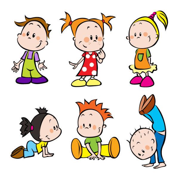 cartoon images of children 01 vector material - Cartoon Picture Of Children