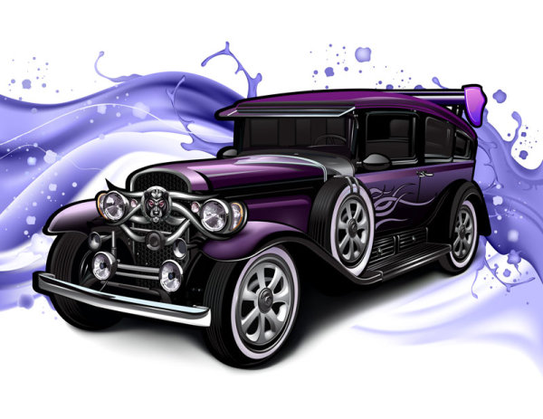 Classic Classic Cars Vector Material Download Free Vector