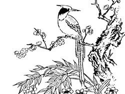 Vector Vector classical Chinese painting material -3