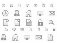 Gray material commonly used small icon gif