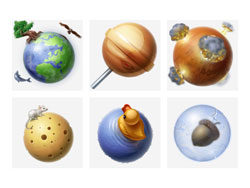 10-planet solar system icons