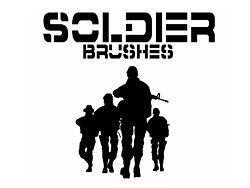 High-resolution PS brushes armed soldiers
