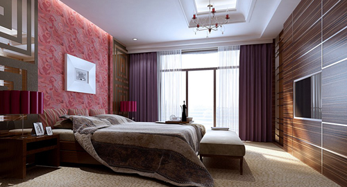 bedroom luxurious decoration interior space 3d model download free
