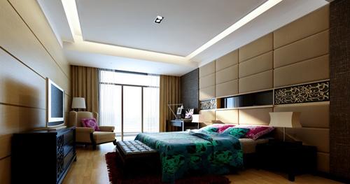 Bedroom warm decoration simple decoration interior for Decoration 3d model free download
