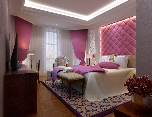 Bedroom Pink Bedroom Girl 39 S Bedroom Interior Space 3D Mo Download Fre