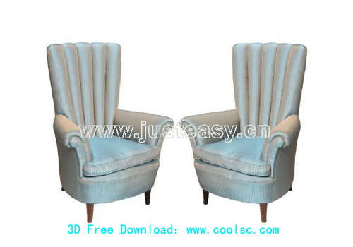 high back sofa sofa furniture sofa chair 3d model