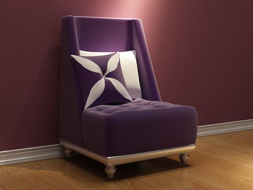 European Single Sofa Sofa Chair Fabric Sofa Chair Fine
