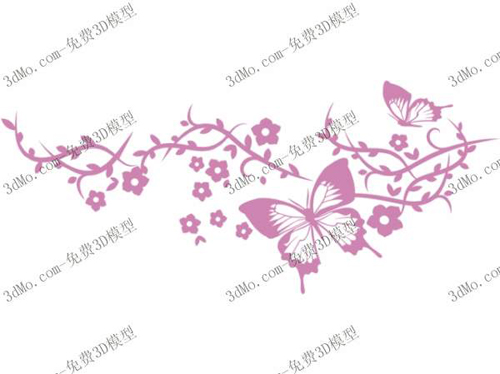 Butterfly Wall Painting Wallpaper Wallpaper Decorative