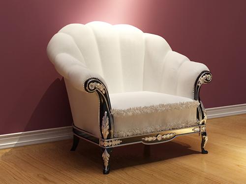 European Style Boutique White Sofa