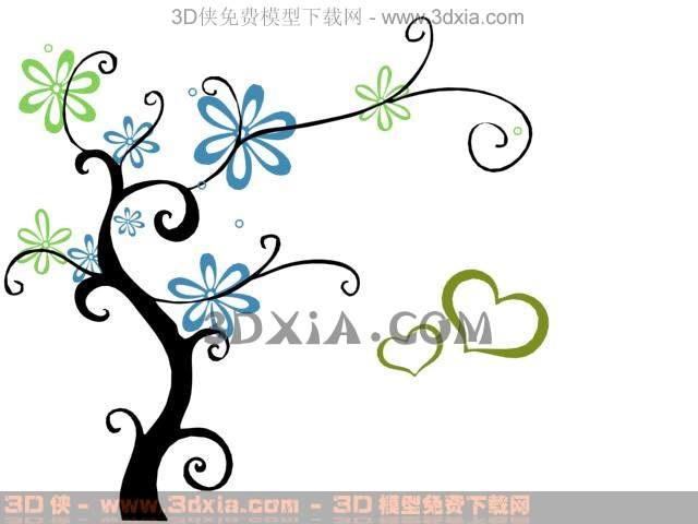 plant trees wallpaper, wallpaper, wall stickers, decorative
