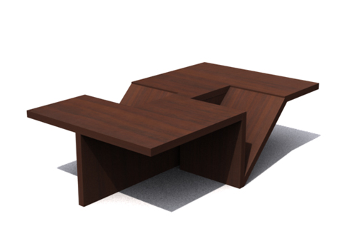 Brunet wood tea table furniture table household for Table design 3d