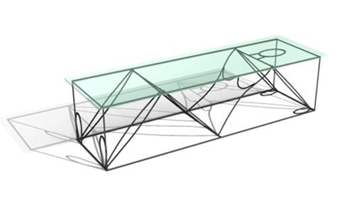 KeyWords:Long Glass Tea Table, Tea Tabl