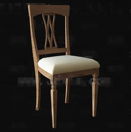 chinese simple wooden chair download free vector 3d model icon. Black Bedroom Furniture Sets. Home Design Ideas