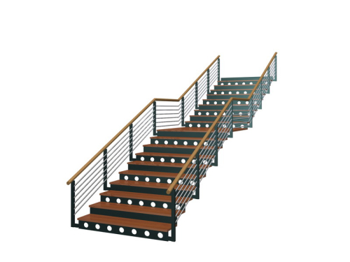 Simple square stairs download free vector 3d model icon for Escaleras 3d max