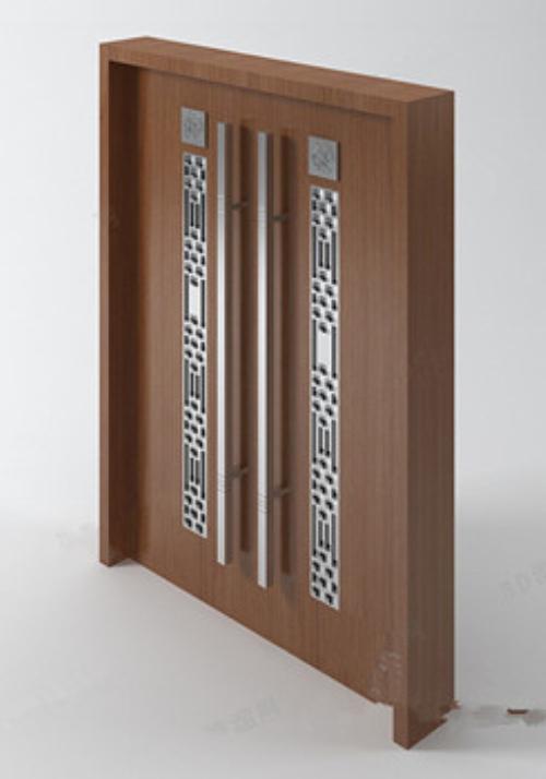 Large double doors 3d models download free vector 3d model for Door 3d model