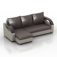 fashion leather sofa multiplayer model