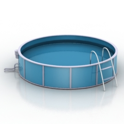 Round Pool Model Download Free Vector 3d Model Icon